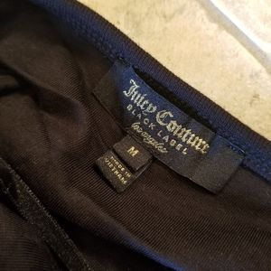 Juicy Couture Shorts - NWT JUICY COUTURE BLACK LABEL VELOUR ROMPER STRIPE